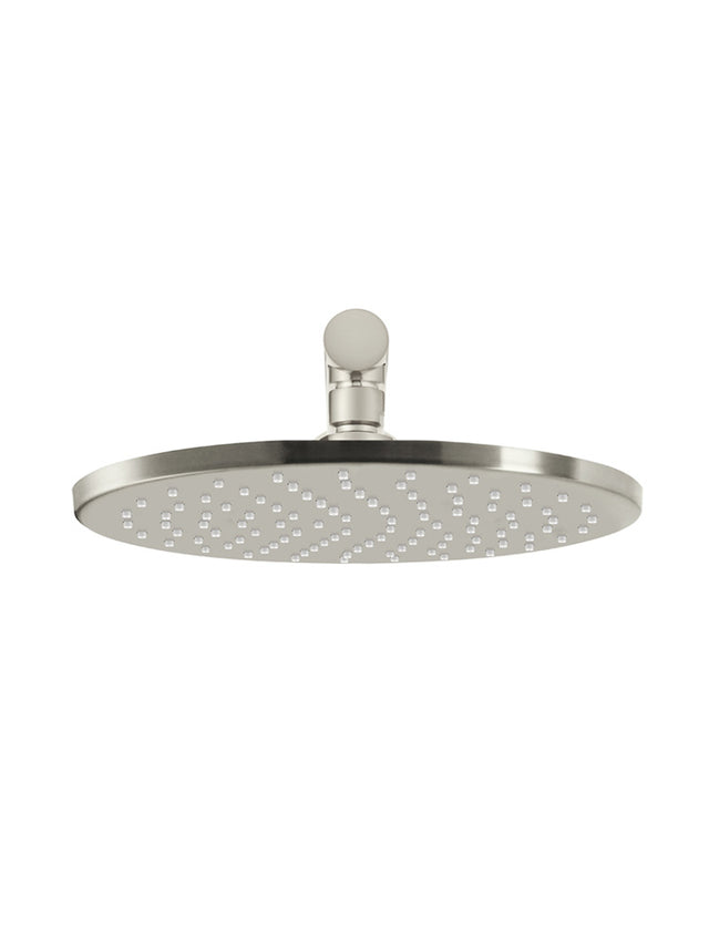 Meir Round Wall Shower 250mm rose, 400mm arm - PVD - PVD Brushed Nickel (SKU: MA0205-PVDBN) Image - 2