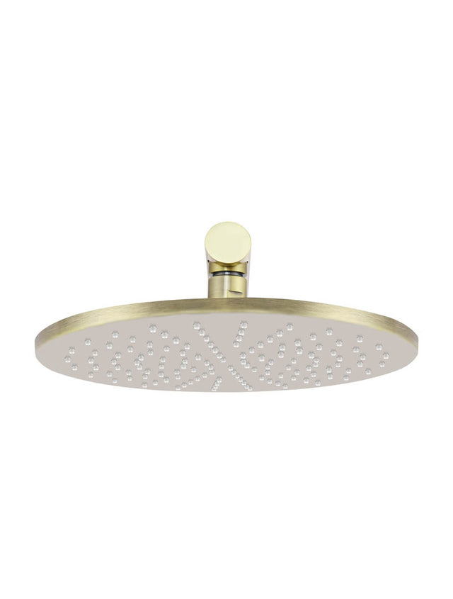Meir Round Wall Shower 300mm rose, 400mm arm - Tiger Bronze (SKU: MA0206-BB) Image - 2
