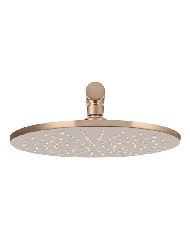 Meir Round Wall Shower 300mm rose, 400mm arm - Champagne (SKU: MA0206-CH) Image - 2