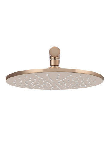 Round Wall Shower 300mm rose, 400mm arm - Champagne