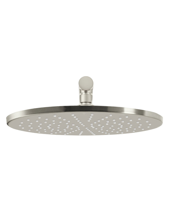Round Wall Shower 300mm rose, 400mm arm - PVD - PVD Brushed Nickel (SKU: MA0206-PVDBN) by Meir