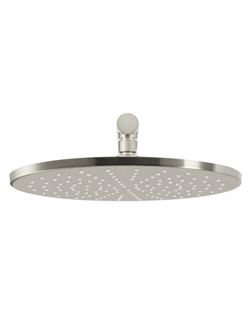 Round Wall Shower 300mm rose, 400mm arm - PVD Brushed Nickel