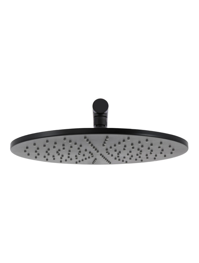 Meir Round Wall Shower 300mm rose, 400mm arm - Matte Black (SKU: MA0206) Image - 2