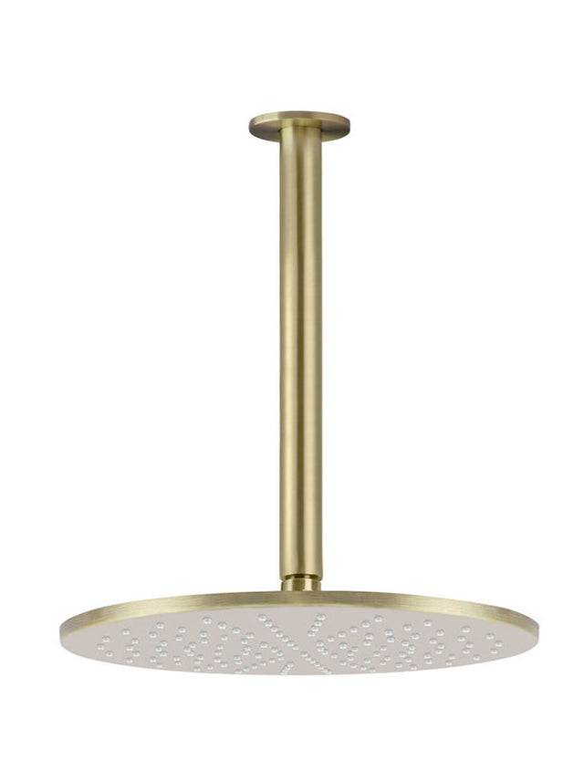 Meir Round Ceiling Shower 300mm rose, 300mm dropper - Tiger Bronze (SKU: MA0706-BB) Image - 2