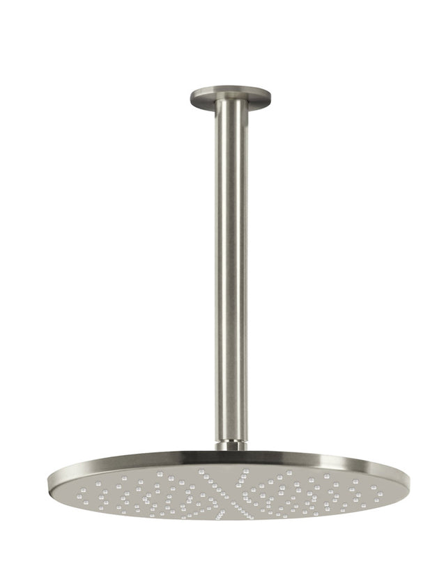 Meir Round Ceiling Shower 300mm Rose, 300mm Dropper - PVD Brushed Nickel (SKU: MA0706-PVDBN) Image - 1