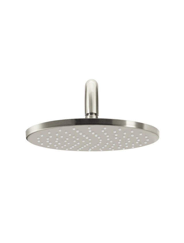 Meir Round Wall Shower 250mm rose, 400mm curved arm - PVD Brushed Nickel (SKU: MA0905-PVDBN) Image - 2