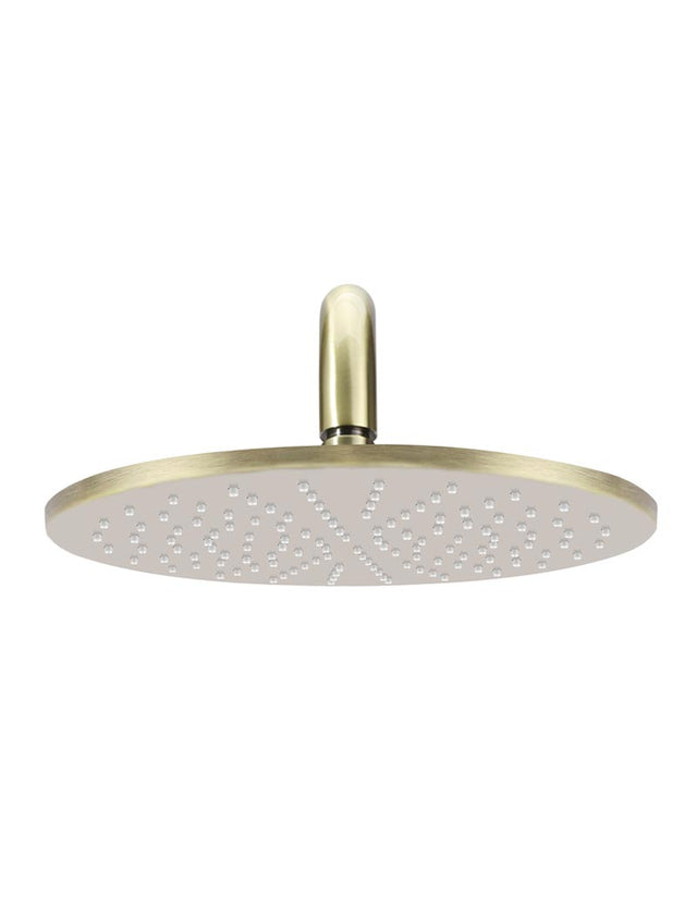 Meir Round Wall Shower 300mm rose, 400mm curved arm - Tiger Bronze (SKU: MA0906-BB) Image - 2
