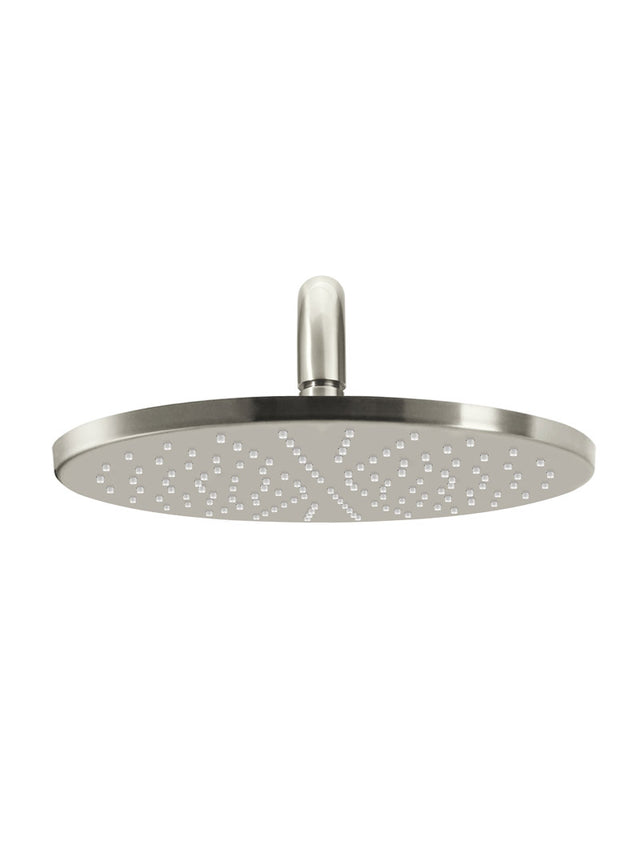 Meir Round Wall Shower 300mm rose, 400mm curved arm - PVD Brushed Nickel (SKU: MA0906-PVDBN) Image - 2