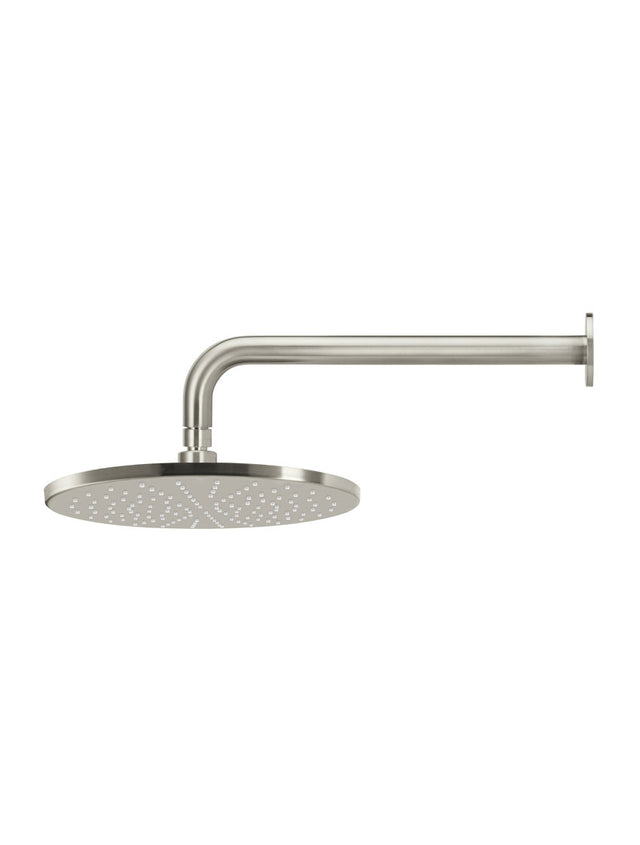 Meir Round Wall Shower 300mm rose, 400mm curved arm - PVD Brushed Nickel (SKU: MA0906-PVDBN) Image - 3