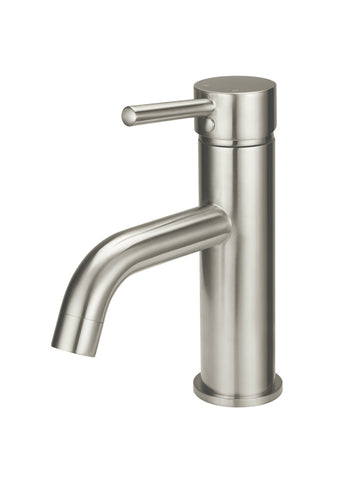Round Basin Mixer Curved - Brushed Nickel
