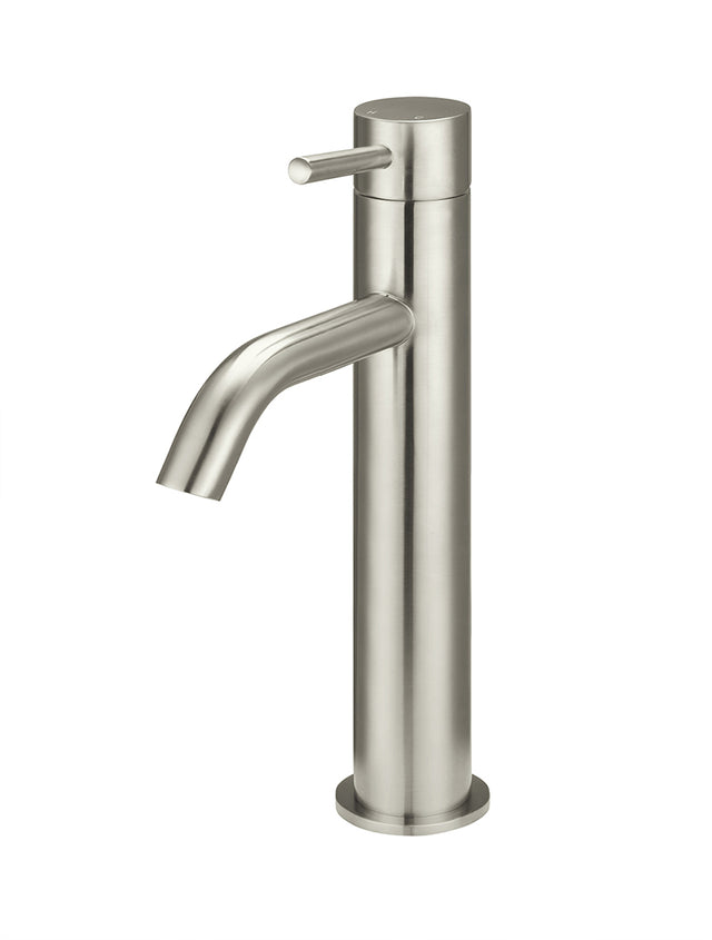 Meir Piccola Tall Basin Mixer Tap - Brushed Nickel (SKU: MB03XL-PVDBN) Image - 1
