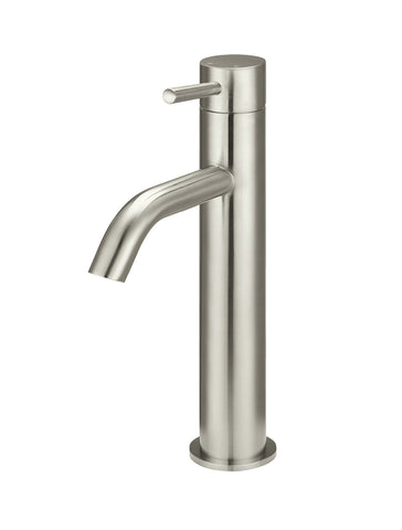 Piccola Tall Basin Mixer Tap - Brushed Nickel