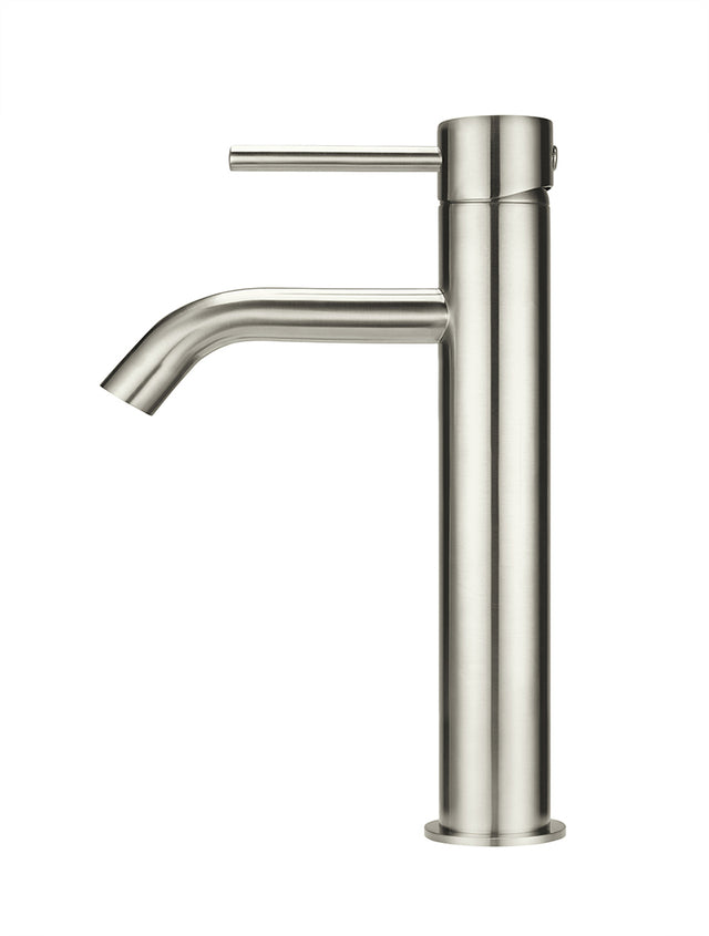 Meir Piccola Tall Basin Mixer Tap - Brushed Nickel (SKU: MB03XL-PVDBN) Image - 2