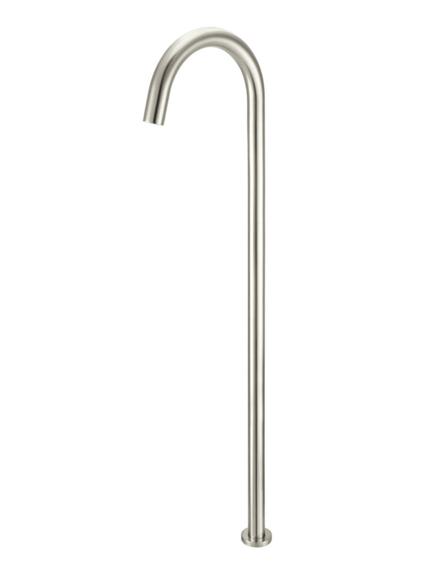 Meir Round Freestanding Bath Spout - PVD - Brushed Nickel (SKU: MB06-PVDBN) Image - 1