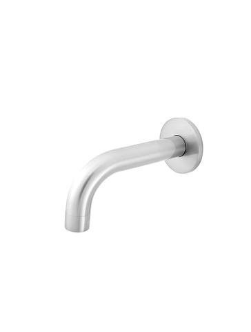 Round Curved Basin Wall Spout 130mm - Polished Chrome