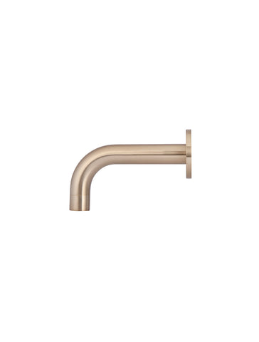 Round Curved Basin Wall Spout 130mm - Champagne