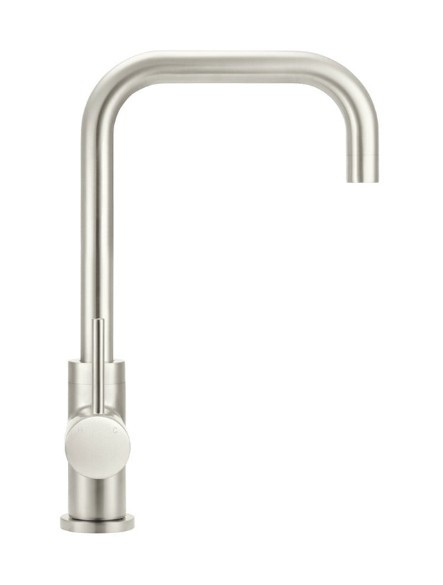 Meir Round Kitchen Mixer Tap Curved - PVD - Brushed Nickel (SKU: MK02-PVDBN) Image - 5