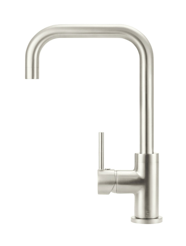 Meir Round Kitchen Mixer Tap Curved - PVD - Brushed Nickel (SKU: MK02-PVDBN) Image - 2