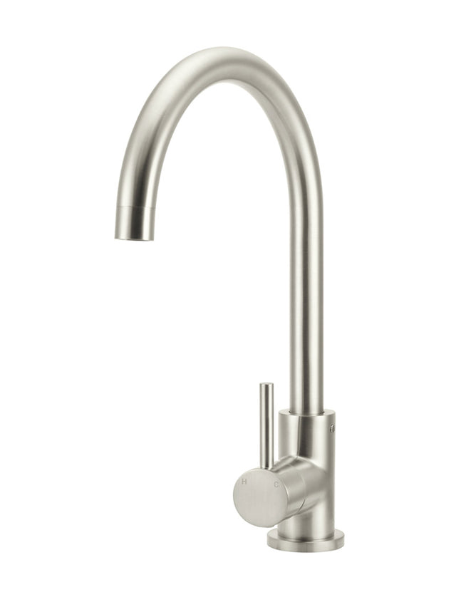 Meir Round Kitchen Mixer Tap - PVD Brushed Nickel (SKU: MK03-PVDBN) Image - 1