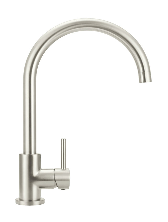 Meir Round Kitchen Mixer Tap - PVD Brushed Nickel (SKU: MK03-PVDBN) Image - 6