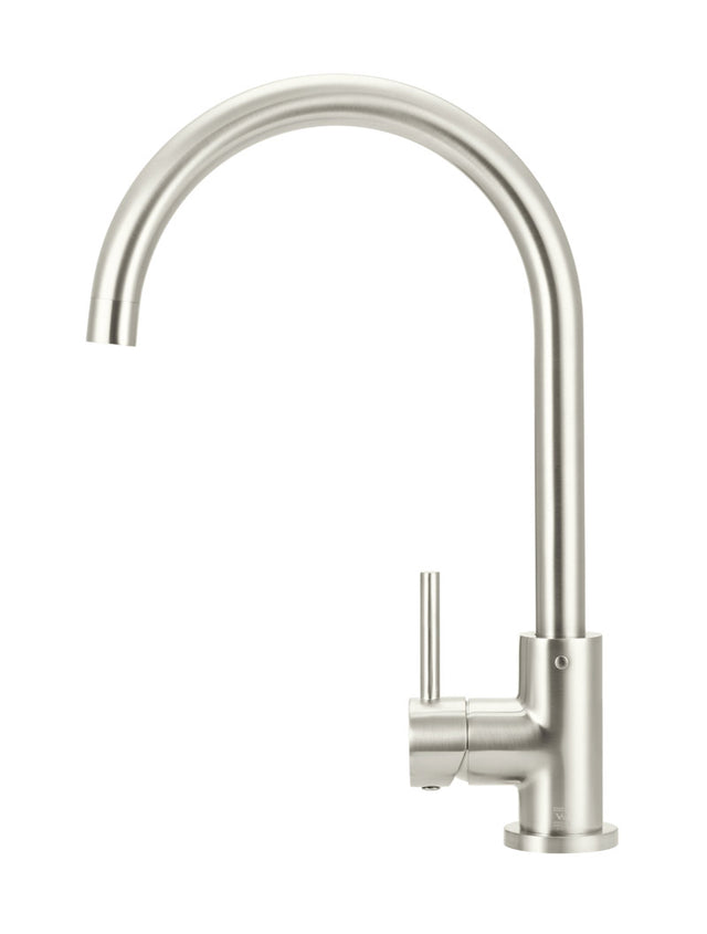 Meir Round Kitchen Mixer Tap - PVD Brushed Nickel (SKU: MK03-PVDBN) Image - 2