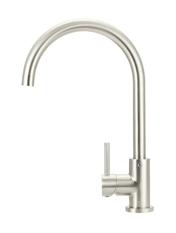 Round Kitchen Mixer Tap - Brushed Nickel