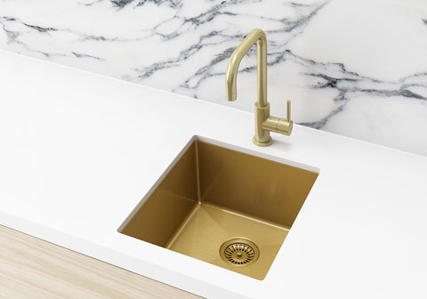 Kitchen Sink - Single Bowl 380 x 440 - Brushed Bronze Gold