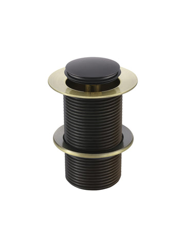 Basin Pop Up Waste 32mm - No Overflow / Unslotted - Gold & Black