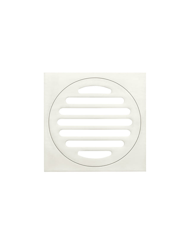 Meir Square Floor Grate Shower Drain 100mm outlet - PVD - Brushed Nickel (SKU: MP06-100-PVDBN) Image - 2