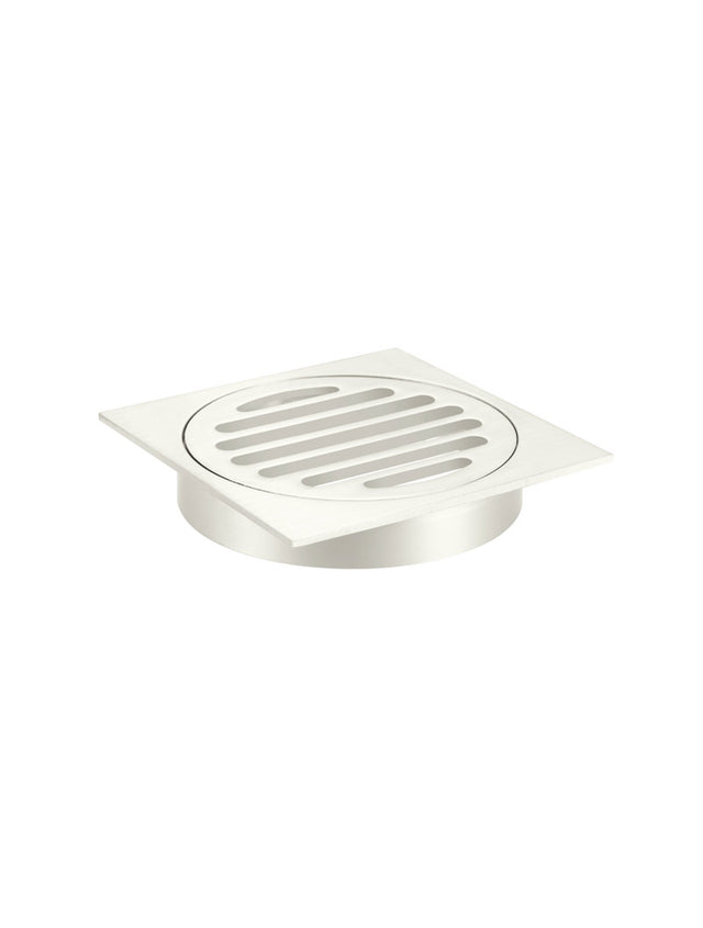 Meir Square Floor Grate Shower Drain 100mm outlet - PVD - Brushed Nickel (SKU: MP06-100-PVDBN) Image - 3