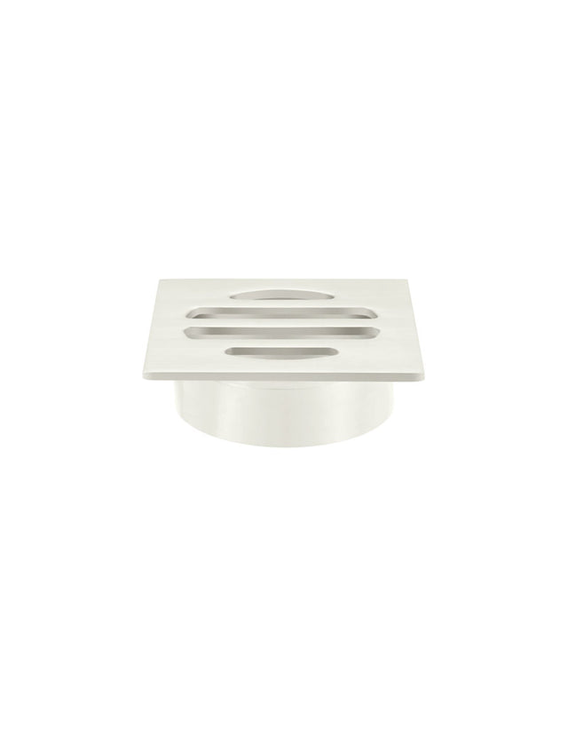 Meir Square Floor Grate Shower Drain 50mm outlet - PVD Brushed Nickel (SKU: MP06-50-PVDBN) Image - 1