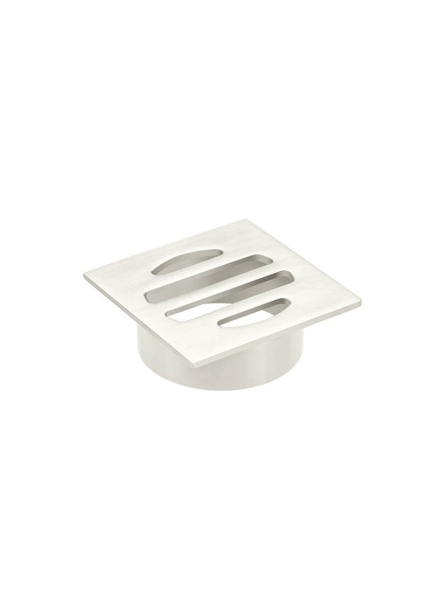 Meir Square Floor Grate Shower Drain 50mm outlet - PVD Brushed Nickel (SKU: MP06-50-PVDBN) Image - 3