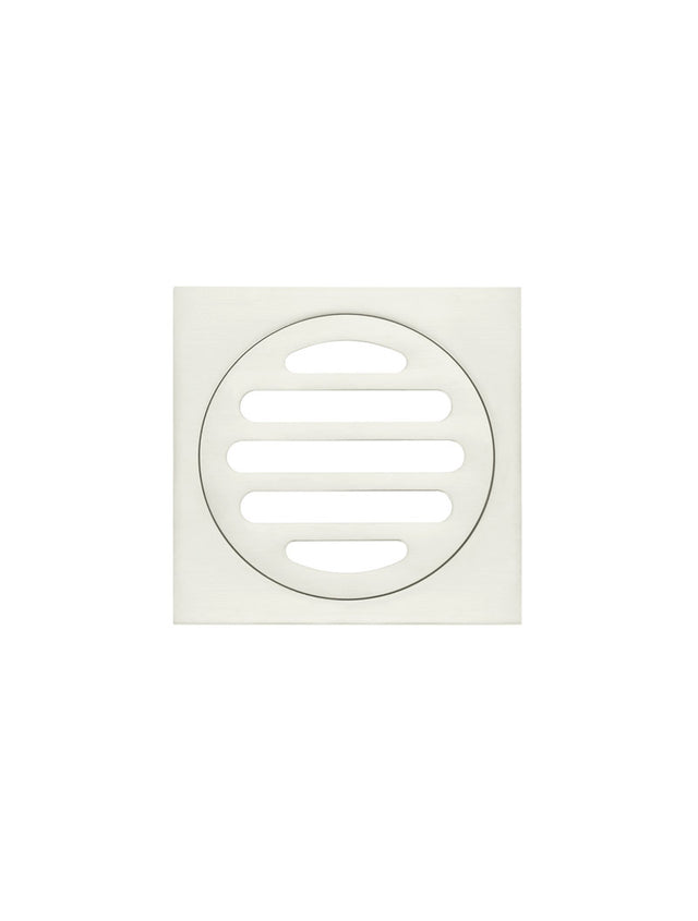 Meir Square Floor Grate Shower Drain 80mm outlet - PVD Brushed Nickel (SKU: MP06-80-PVDBN) Image - 2