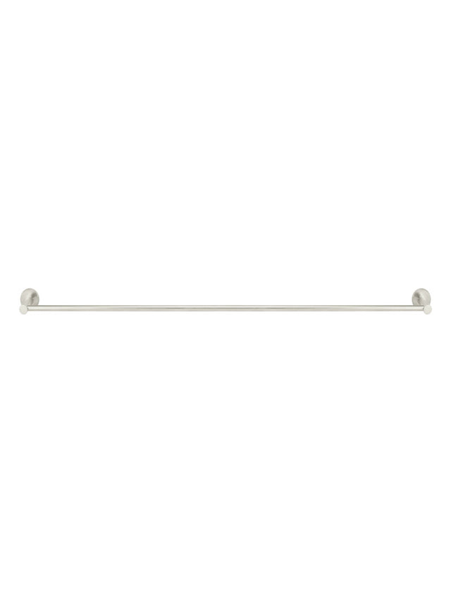Meir Round Single Towel Rail - PVD Brushed Nickel - Brushed Nickel (SKU: MR01-SR90-PVDBN) Image - 2