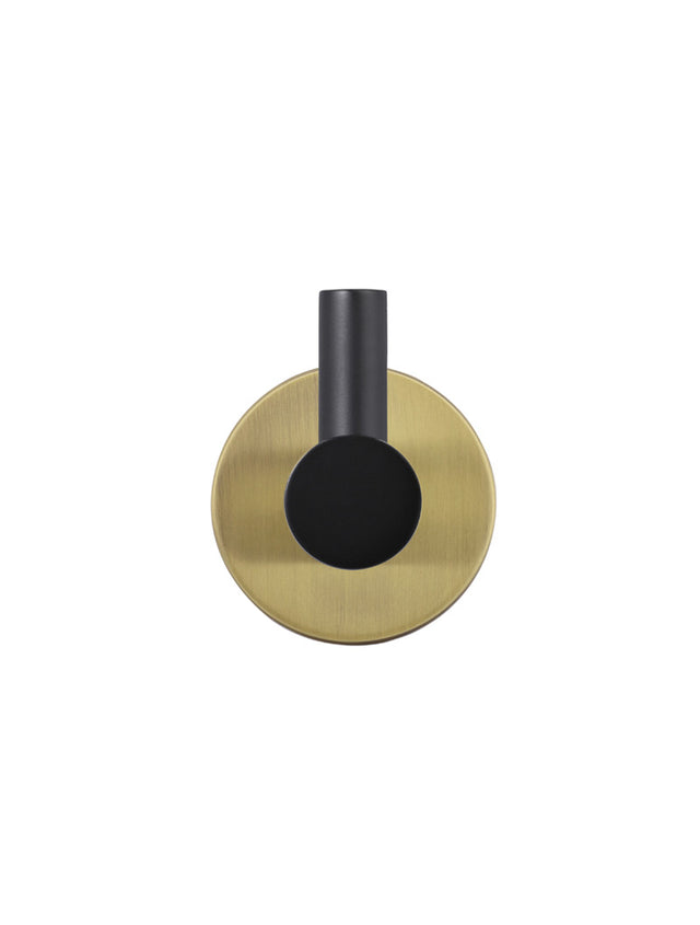 Meir Round Robe Hook - Black Gold (SKU: MR03-R-BG) Image - 2