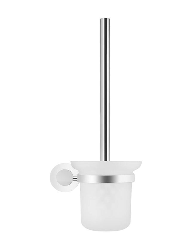 Round Toilet Brush & Holder - Polished Chrome (SKU: MTO01-R-C) by Meir