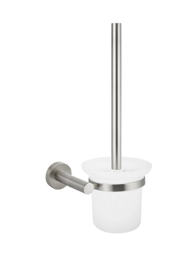Meir Round Toilet Brush & Holder - PVD Brushed Nickel (SKU: MTO01-R-PVDBN) Image - 1