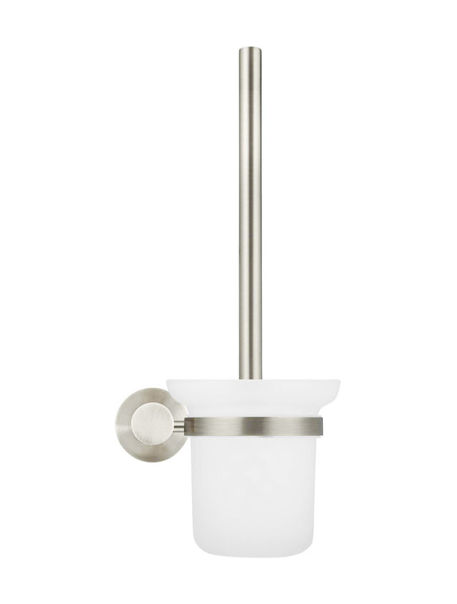 Meir Round Toilet Brush & Holder - PVD Brushed Nickel (SKU: MTO01-R-PVDBN) Image - 2