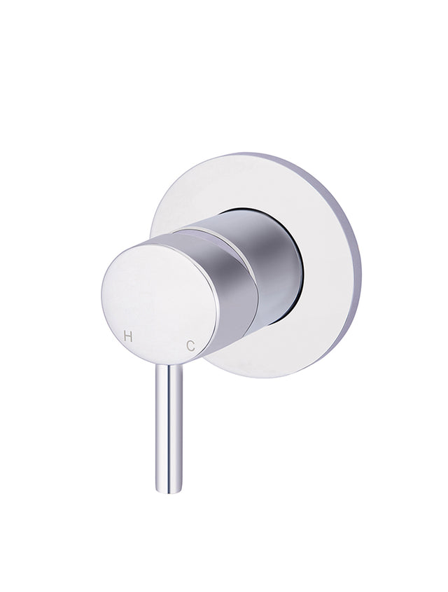 Meir Round Wall Mixer short pin-lever - Polished Chrome (SKU: MW03S-C) Image - 1