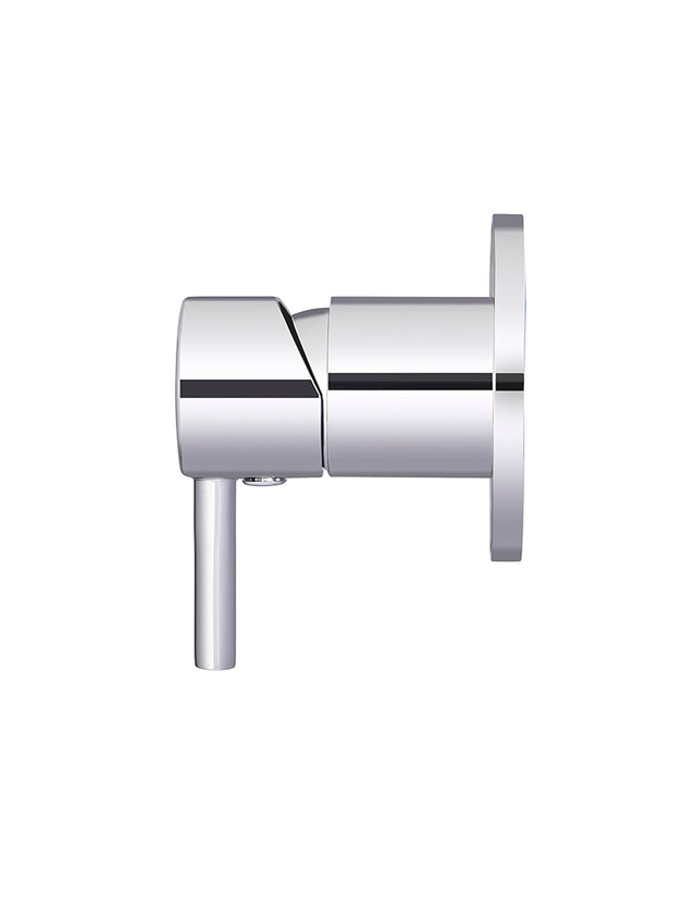 Meir Round Wall Mixer short pin-lever - Polished Chrome (SKU: MW03S-C) Image - 2
