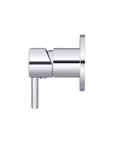 Round Wall Mixer short pin-lever - Polished Chrome