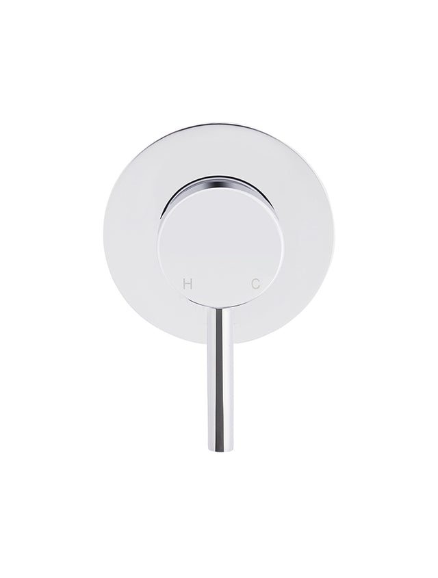 Meir Round Wall Mixer short pin-lever - Polished Chrome (SKU: MW03S-C) Image - 4