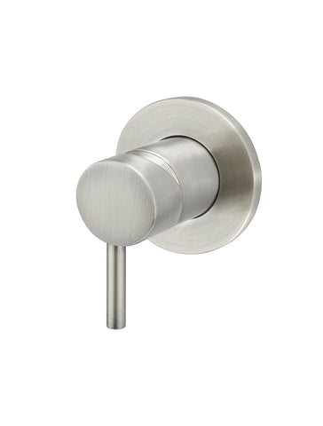 Round Wall Mixer short pin-lever - Brushed Nickel