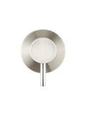 Round Wall Mixer short pin-lever - Brushed Nickel - MW03S-PVDBN