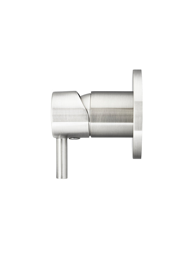 Round Wall Mixer short pin-lever - Brushed Nickel (SKU: MW03S-PVDBN) by Meir