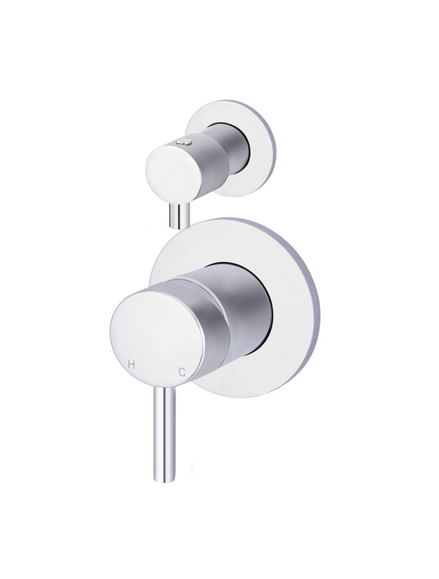 Round Diverter Mixer - Polished Chrome