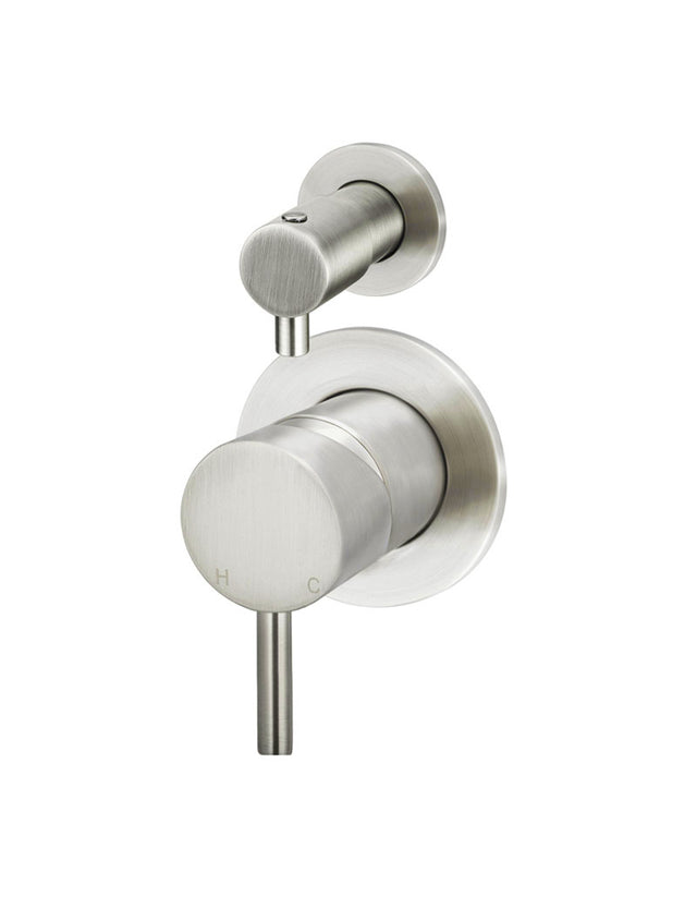 Round Diverter Mixer - Brushed Nickel