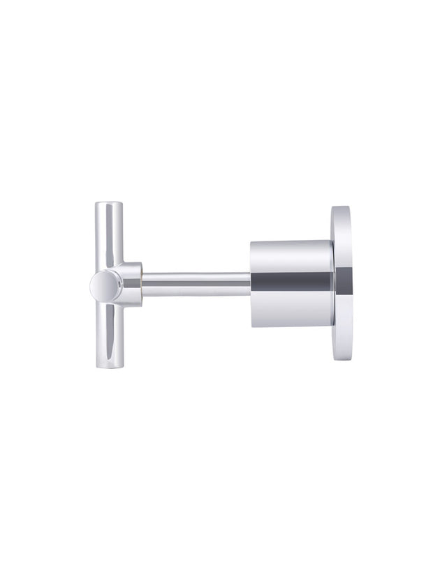 Meir Round Cross Handle Jumper Valve Wall Top Assemblies - Polished Chrome (SKU: MW08JL-C) Image - 2