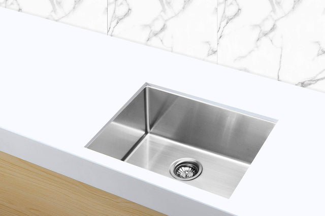 Meir Kitchen Sink - Single Bowl 450 x 450 - PVD - PVD Brushed Nickel (SKU: MKSP-S450450-NK) Image - 2