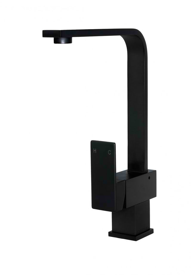 Meir Square Kitchen Mixer Tap - Matte Black (SKU: MK01) Image - 5